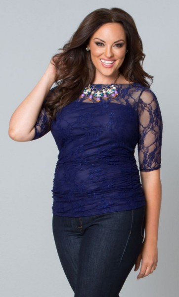 Womens plus sizes smitten lacy dress top