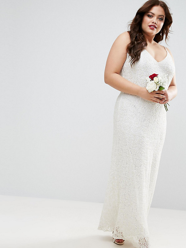 5947b059f30 Asos CURVE Embellished Cami Wedding Dress Plus Sizes - Plus Size ...