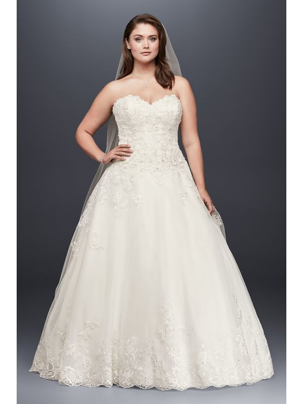 David\'s Bridal Plus Size Wedding Dress - Plus Size Clothing