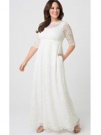 Plus Size Wedding Gown in White