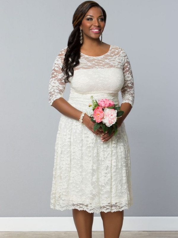 Wedding Lace Dress For Plus Size Women