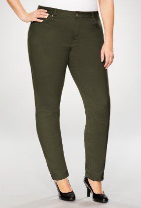 Brown Slim Leg Jeans With 5 pockets styling