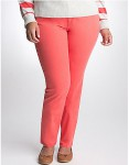 Coral Reef Color Skinny Womens Plus Size Jean