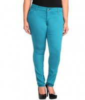 Teal Real Skinny Plus Size Jean
