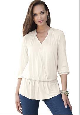 Plus Size White Blouse Versatile
