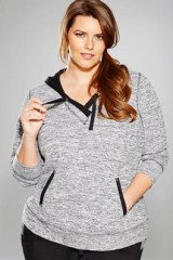 Comfort knit French Terry Womens Plus Size Hoodie