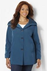 Plus size womens a line jacket