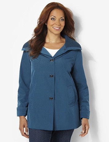 Plus size womens a line jacket