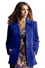 Classic tailored rich suede jacket in women plus sizes 14, 16, 18, 20, 22 24 26 28