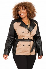 Double Breasted Trench Coat Women Plus Sizes