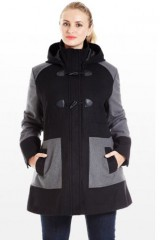 Hooded Coat in Women Plus Sizes 1X 2X 3X