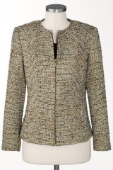 Sparkle Tweed Blazer In Plus Sizes