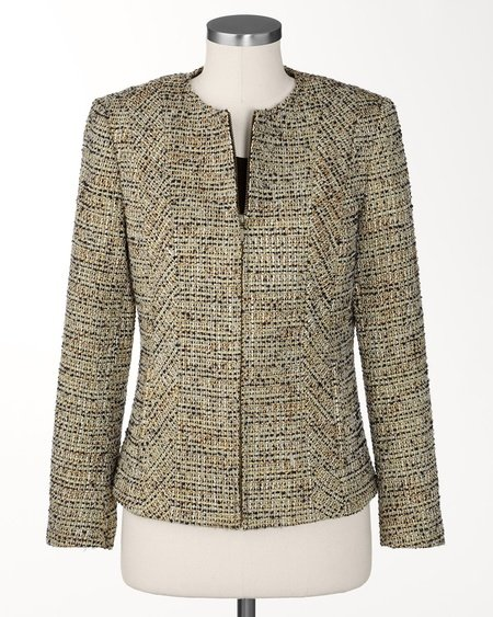 Sparkle Tweed Blazer In Plus Sizes