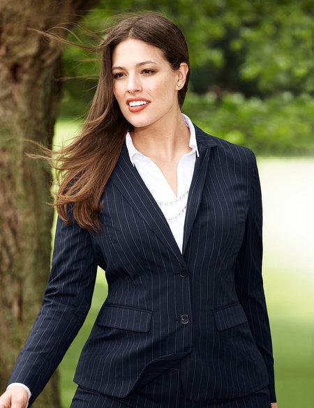 Tailored Pinstripe Blazer