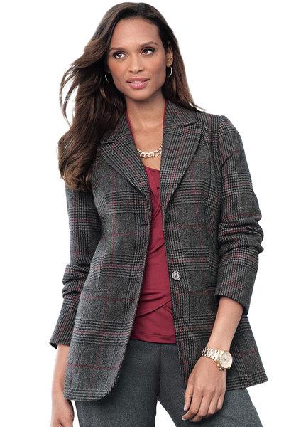 Wool Blazer in Women Plus Sizes women's plus size wool blazer
