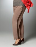 Brown Tuxedo Stripe Soft Pants