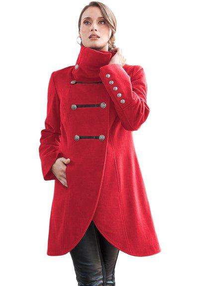 Winter coat military style women plus sizes