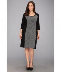 Karen Kane Plus Geo Print Dress