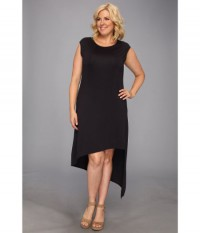 MICHAEL Michael Kors Plus Size Cap Sleeve Asymmetrical Hem Dress