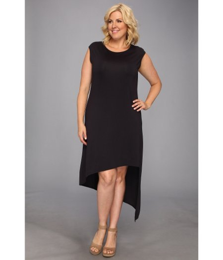 MICHAEL Michael Kors Plus Size Cap Sleeve Asymmetrical Hem Dress