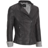 Asymmetric Faux Leather Moto Jacket in Plus Sizes