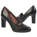 Oxford inspired shoe with chunky heels wide width