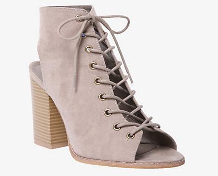 lace up booties heels open toe