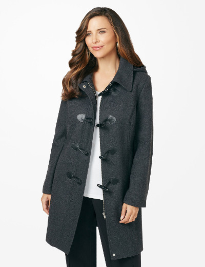 Women's Plus Size Plus Size Clothing - Shop Perks and Gift Cards Timeless Toggle Coat
