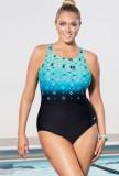 Aquabelle Citrine High Neck Swimsuit
