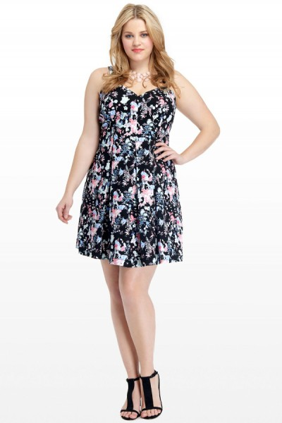Sweet Spring Dress #2 Begonia Floral Sweetheart Dress