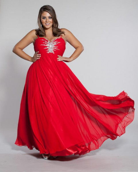 SC7071 Sydneys Closet Starbust Plus Size Prom Dress