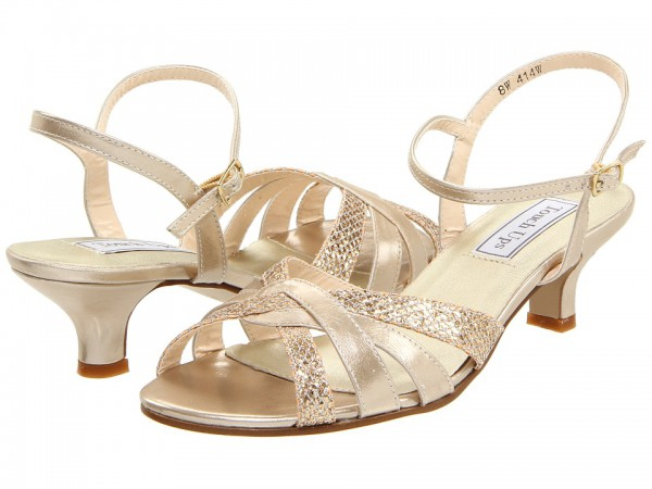 Wide Width Touch Ups Jane Sandal In Champagne Silver Glitter
