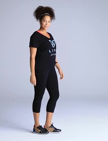 Womens Plus Sizes Active Capri Leggings