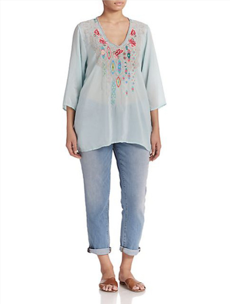 Johnny Was, Sizes 14-24 Paloma Blouse