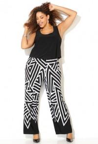 Black & white palazzo pant geometric print jumpsuit