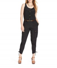 LAUREN RALPH LAUREN Plus Scoopneck Jumpsuit