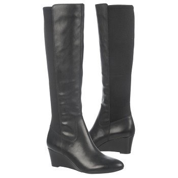 Quinlee wide calf boots with neoprene back panel