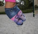 Womens plus size splash color tights 1X 2X 3X 4X
