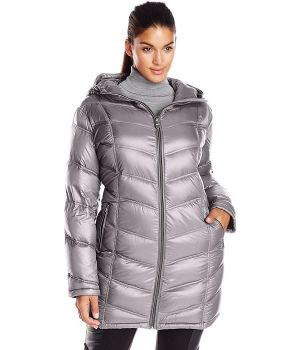 Calvin Klein Womens Plus Size Packable Down Coat