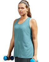 Champion Womens Plus Absolute Stretch Tank Aqua Heather
