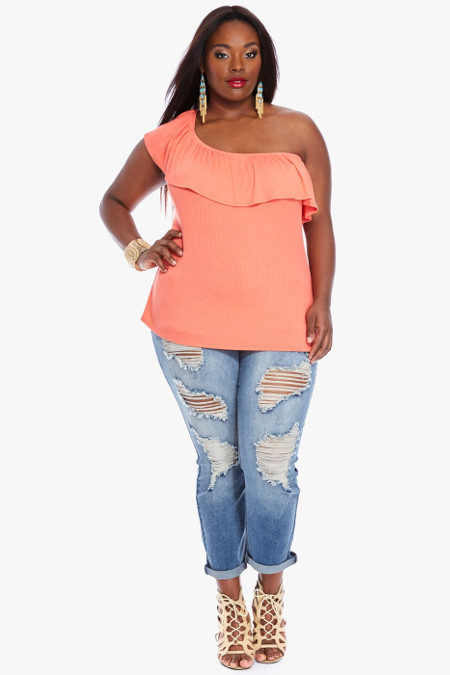 3 Way Ruffle Plus Size Top
