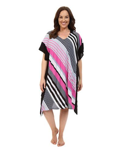 DKNY Plus Size Stripe Caftan