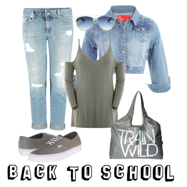 Denim Blue and grey Back to school outfit