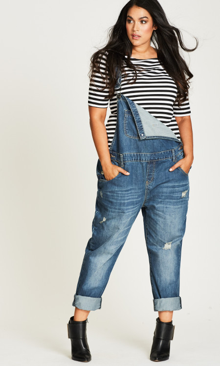 Denim Overall Women Plus Sizes