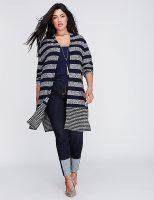 Striped Cardigan Boyfriend Jeans Outfit
