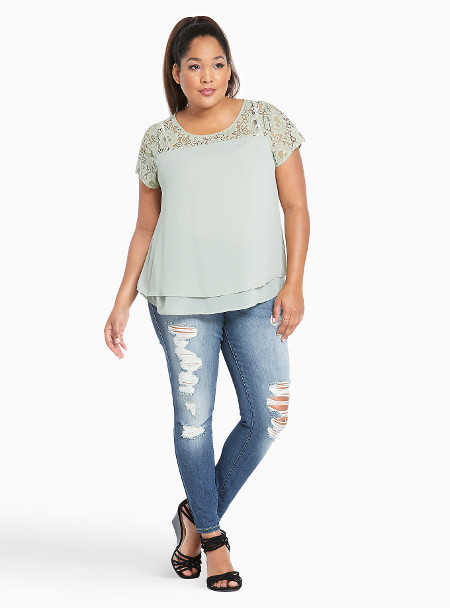 Torrid Premium Stretch Denim Ripped Jeans