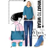 Blue Suede Wednesday Womens Plus SIze Casual Outfit