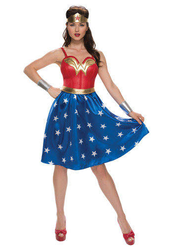 Plus Size Long Dress Wonder Woman Costume
