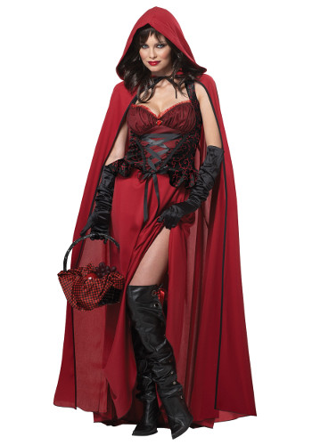 Women's Plus-Size Dark Red Riding Hood