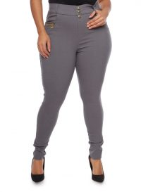 Plus Size High Waisted Pants